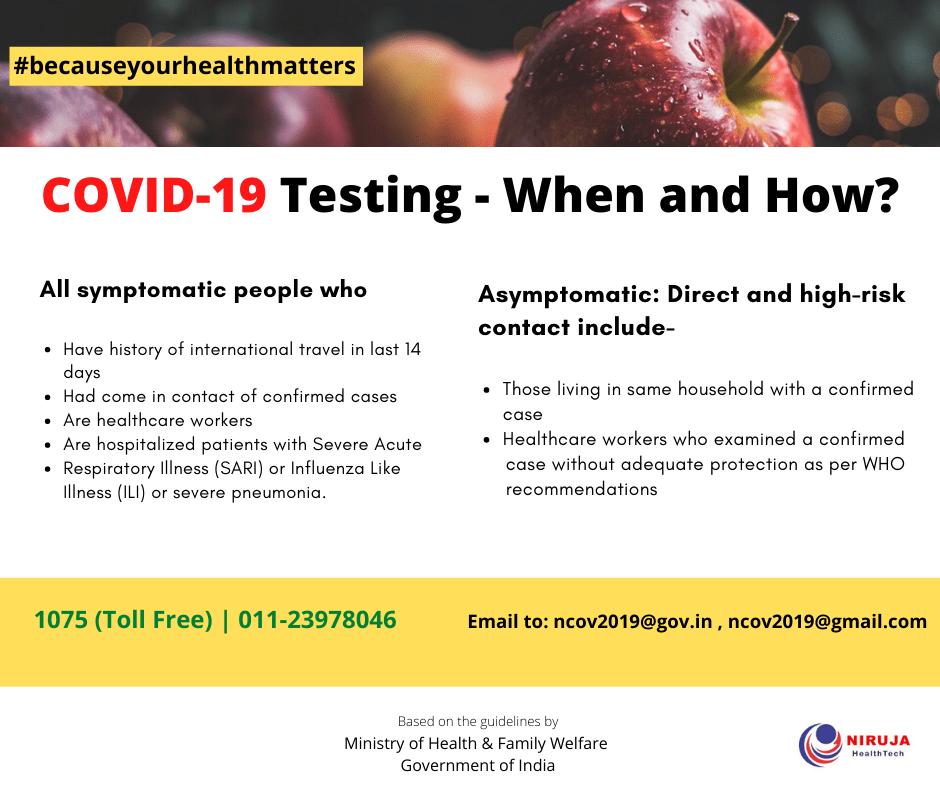 COVID 19-testing
