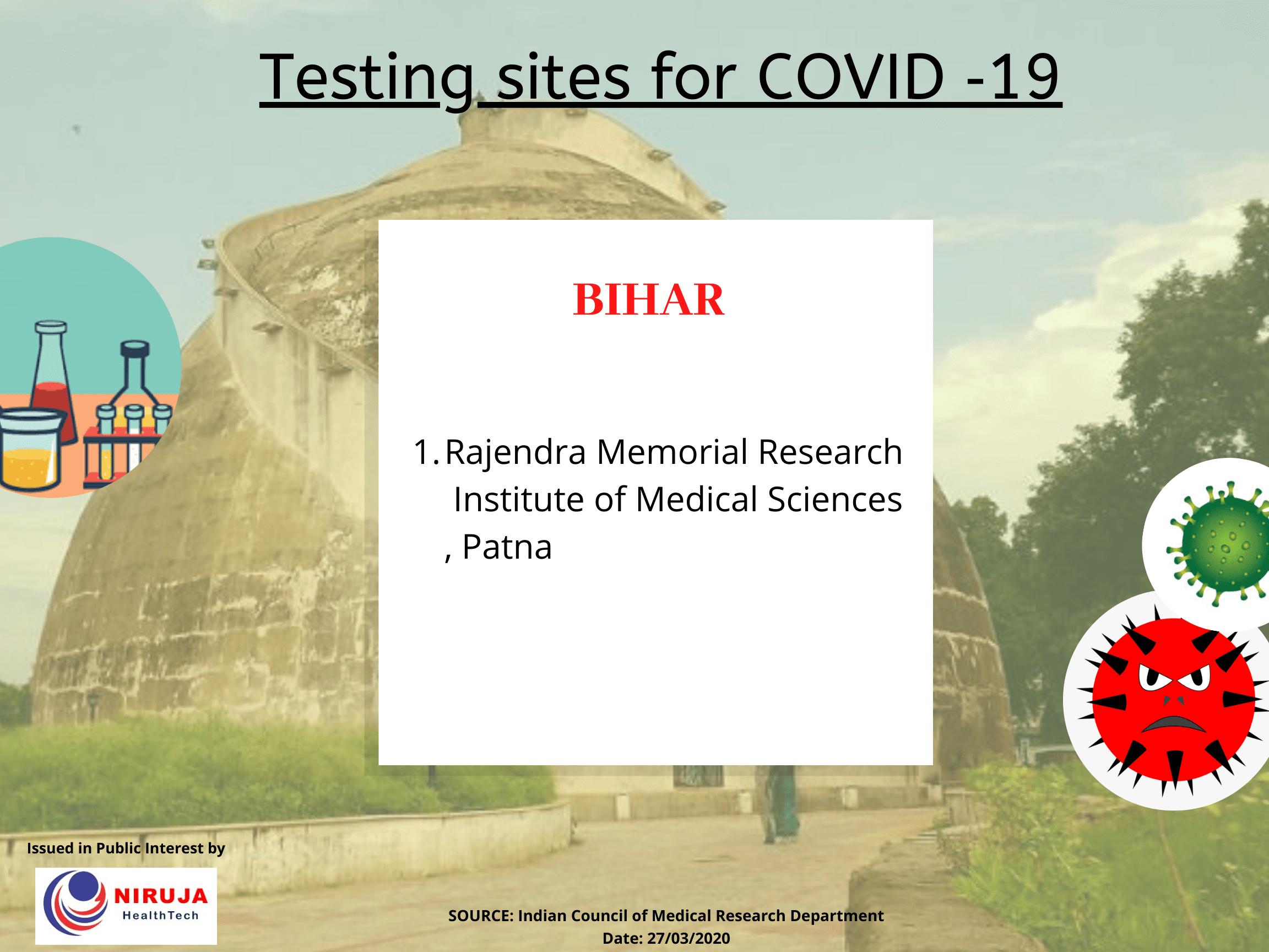 Testing centre Bihar