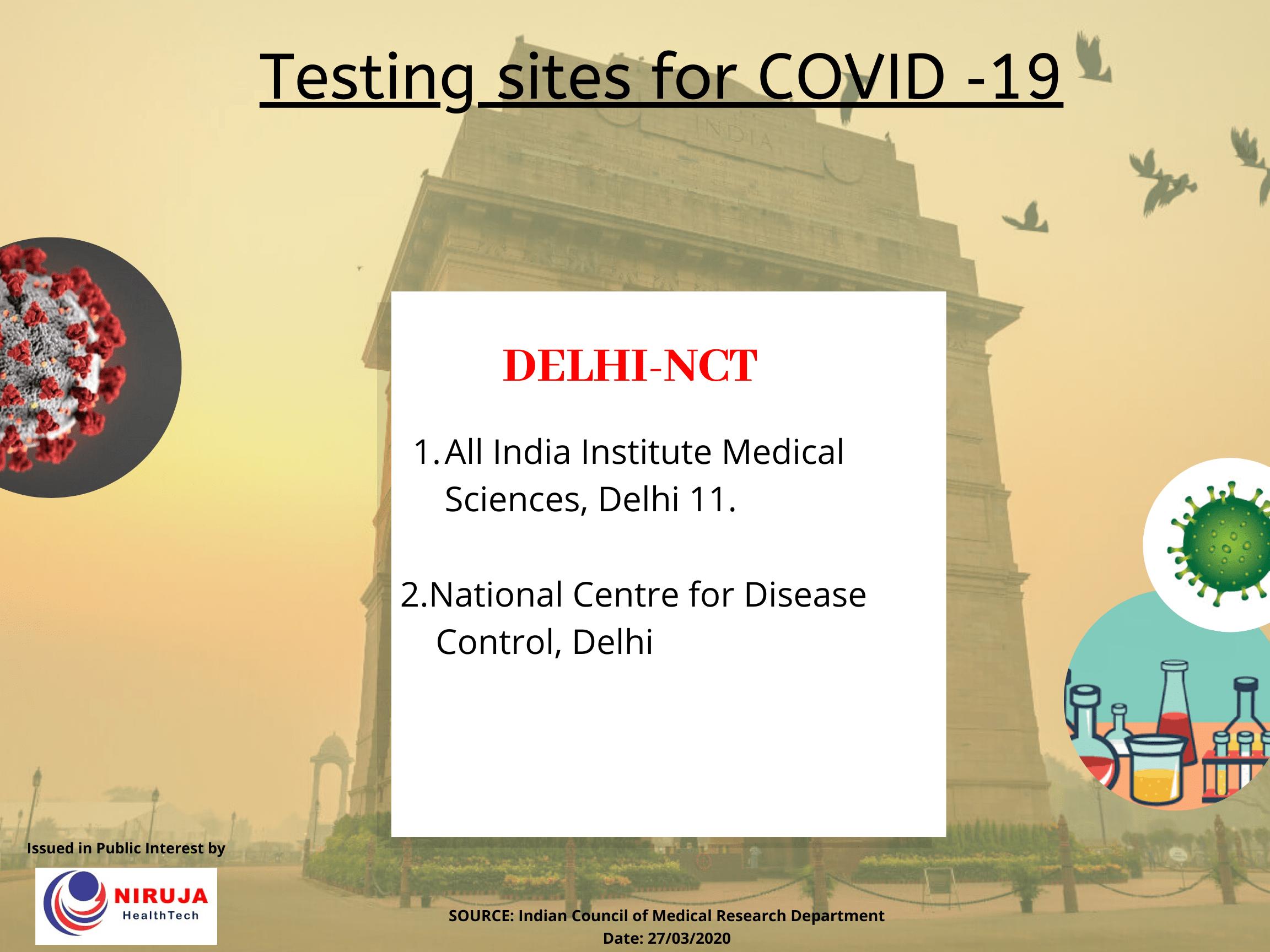Testing centre Delhi