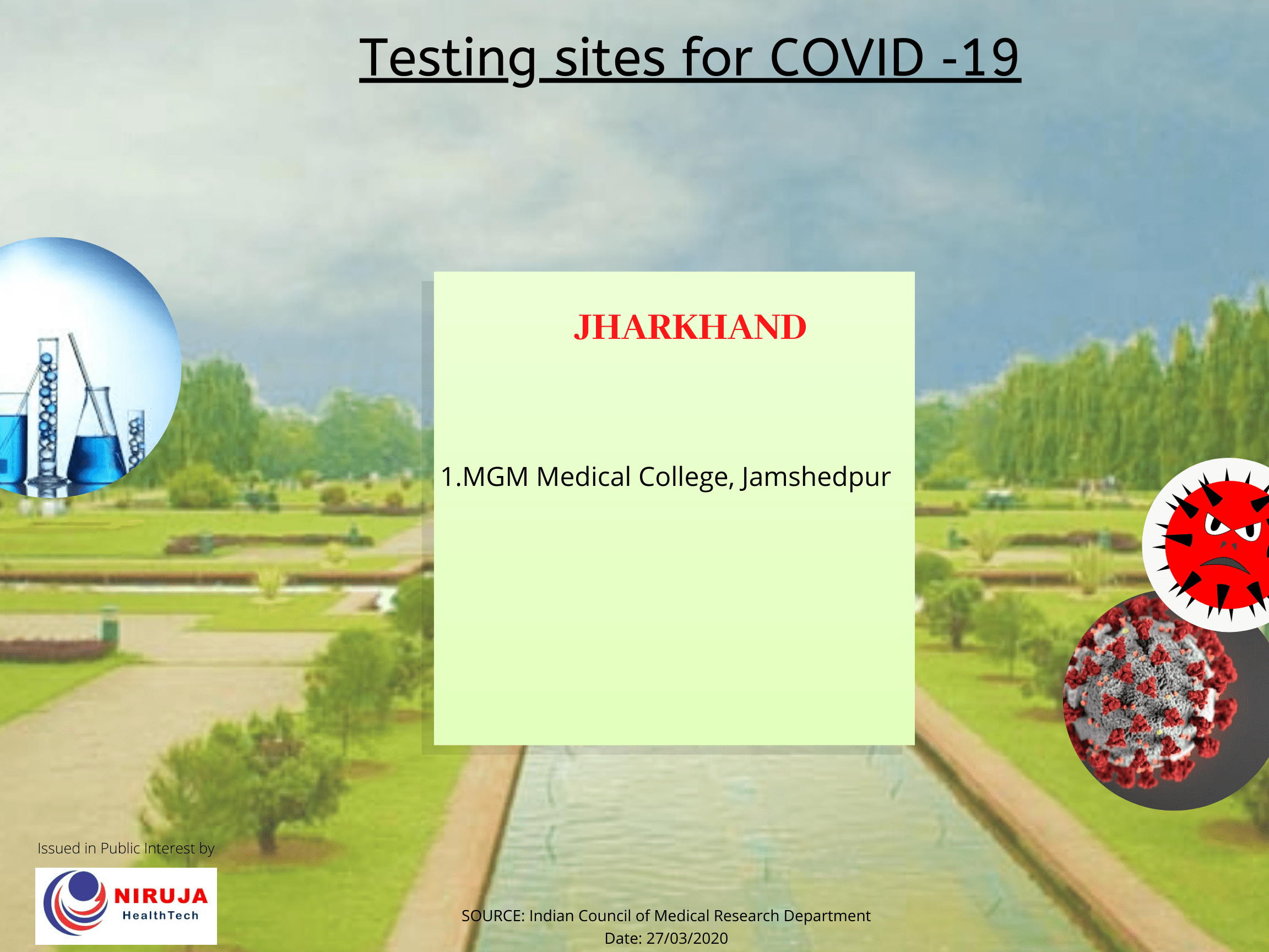 Government Testing centre Jharkhand