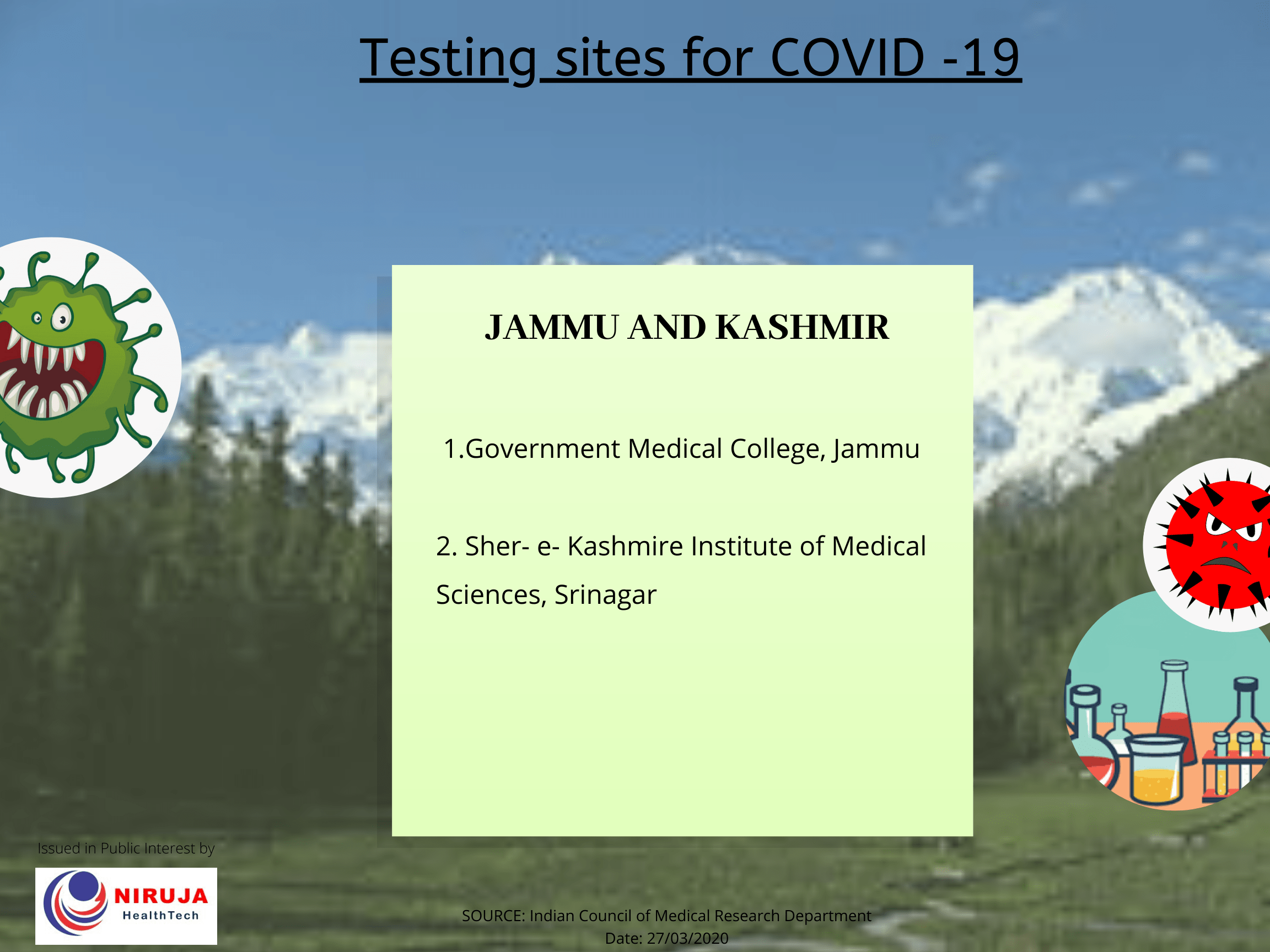 Government Testing centre J&K