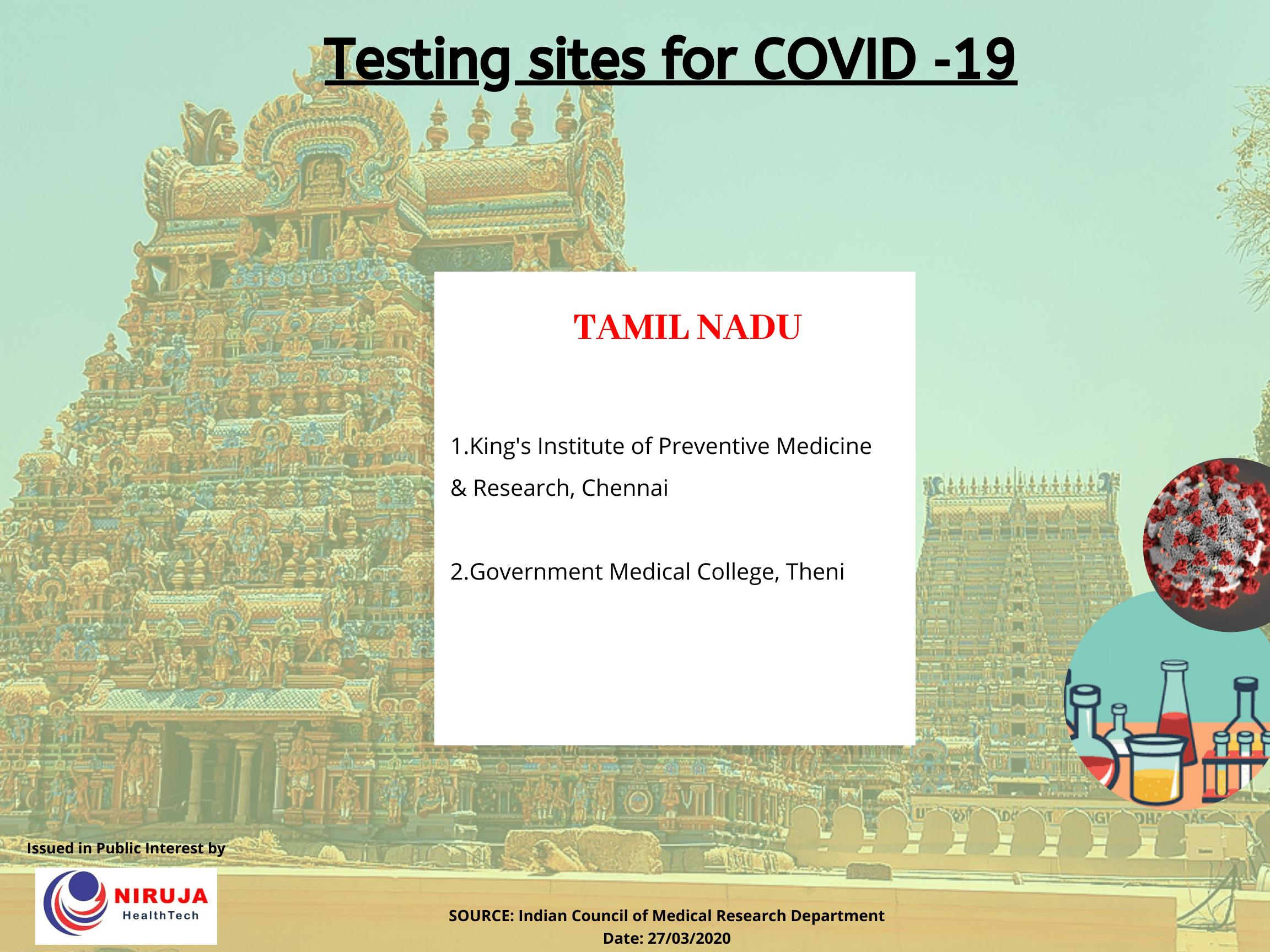 Government Testing centre Tamil Nadu