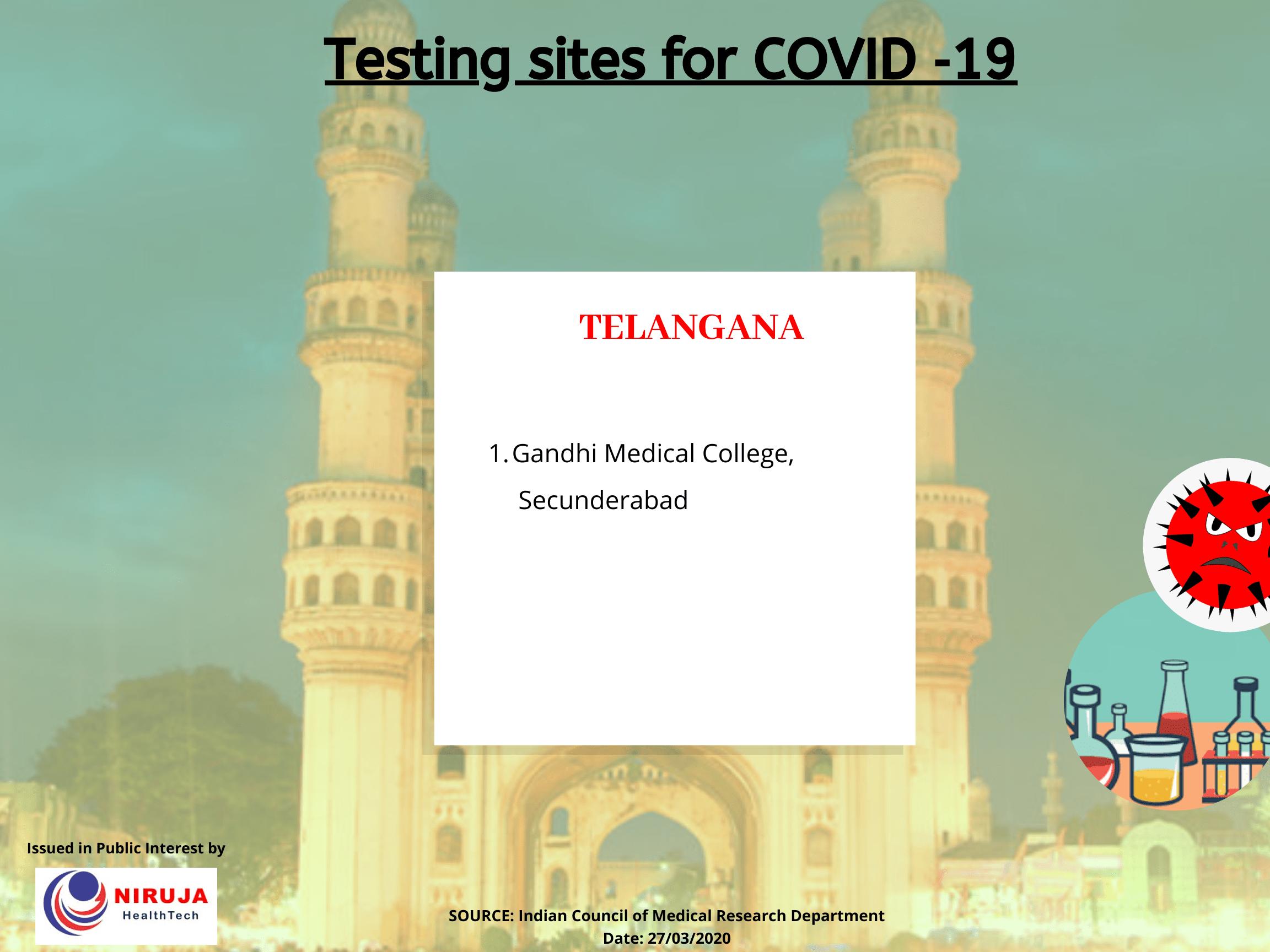 Government Testing centre Telangana